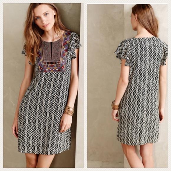99da9a41f974 Anthropologie Dresses & Skirts - {Anthro} Maeve Aleteo Print Embroidered  Dress M